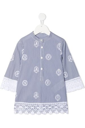 ERMANNO SCERVINO JUNIOR Broderie anglaise striped blouse