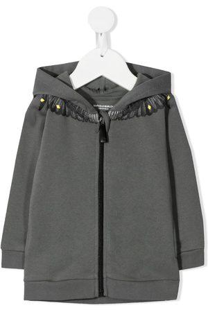 MARCELO BURLON Graphic-print zip-up hoodie
