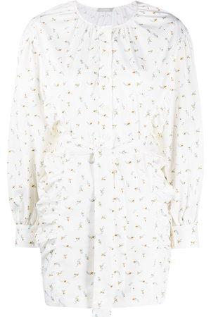 12 STOREEZ Floral-print tied waist mini dress