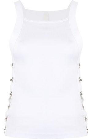 DION LEE Women Tank Tops - Side hook eye tank top