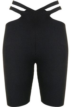DION LEE Lustrate Fork knit shorts