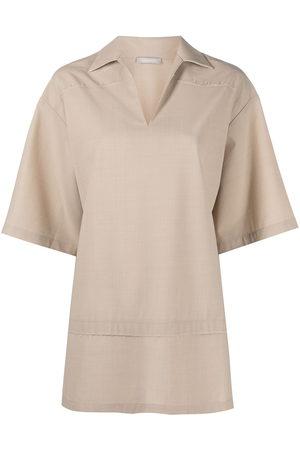 12 STOREEZ Women Short Sleeve - Oversized short-sleeve shirt