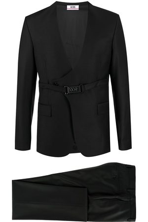 GCDS Double-breasted belted two-piece suit