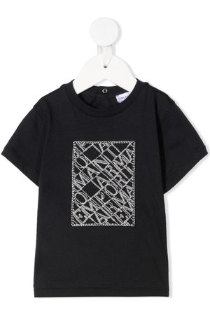 Emporio Armani Embroidered-logo cotton T-Shirt