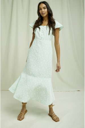 People Tree Pippa Silhouette Floral Dress 8