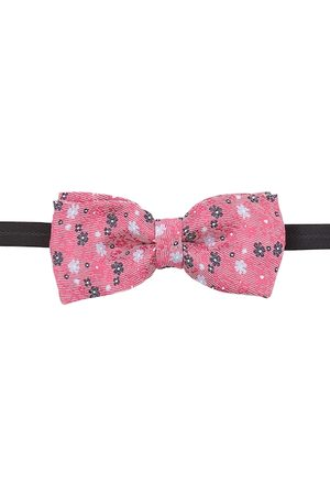 Blacksmith Men Red & Pink Floral Printed Bow Tie