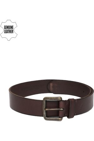 AMERICAN EAGLE OUTFITTERS Men Brown Solid Genuine Leather Belt