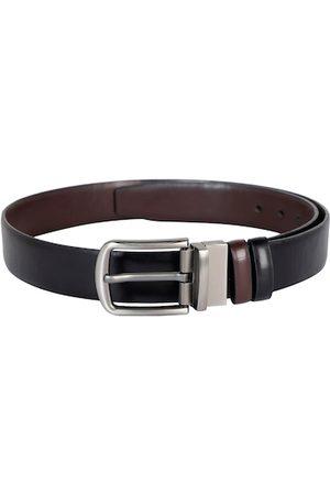ZEVORA Men Black & Brown Solid Reversible Belt