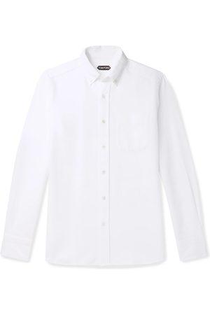 Tom Ford Slim-Fit Button-Down Collar Cotton-Poplin Shirt