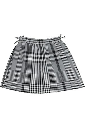 Burberry Checked cotton poplin skirt