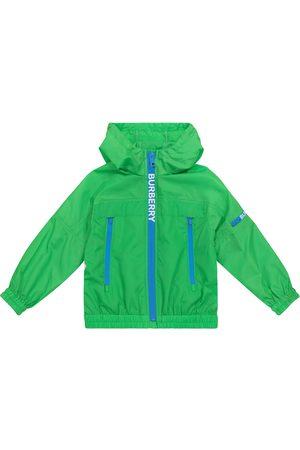 Burberry Boys Jackets - Logo hooded technical jacket