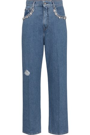 Golden Goose Women High Waisted - Kim embellished straight jeans
