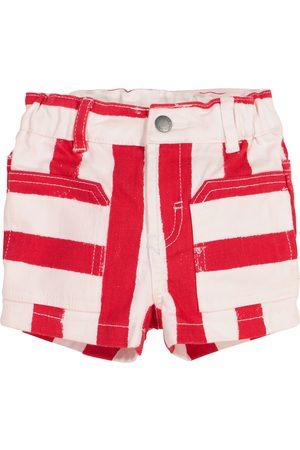 Stella McCartney Shorts - Baby striped denim shorts