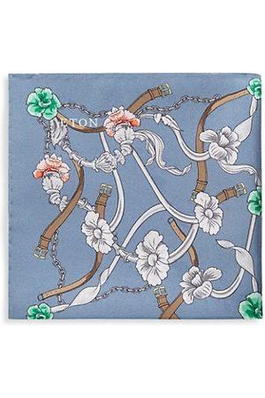 Eton Botanical Silk Pocket Square