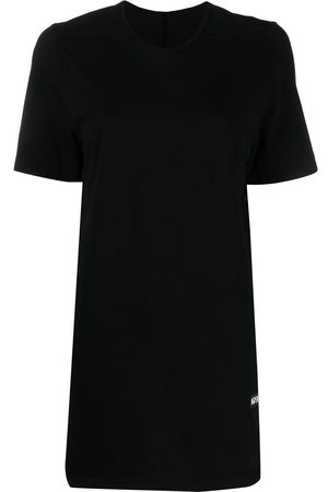 Rick Owens Women Short Sleeve - Logo-patch cotton T-Shirt