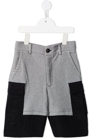 Emporio Armani Two-tone fabric shorts