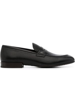 Salvatore Ferragamo Snake-effect leather penny loafers