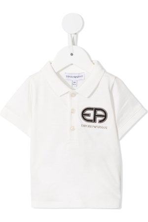 Emporio Armani Polo Shirts - Embroidered logo polo shirt