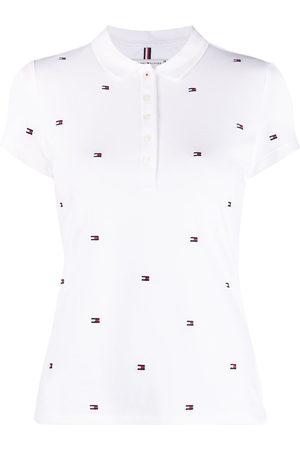 Tommy Hilfiger Women Polo Shirts - Logo-print short-sleeved polo shirt