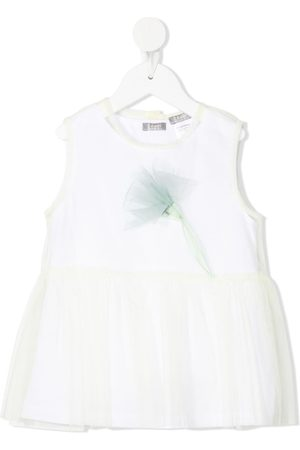 Il gufo Layered tulle blouse