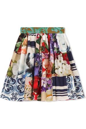 Dolce & Gabbana Girls Printed Skirts - Multi-print flared skirt