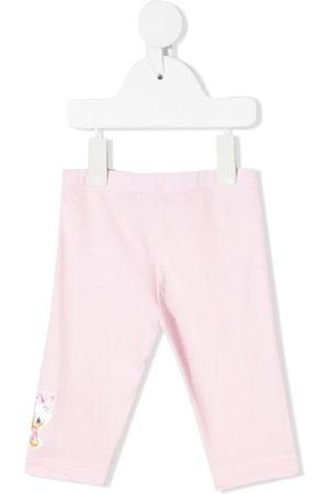 MONNALISA Baby Leggings - Floral-embroidered leggings