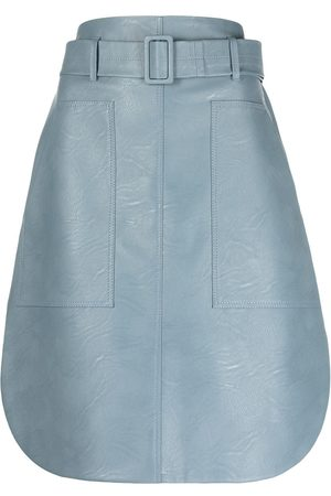Stella McCartney Faux leather belted skirt