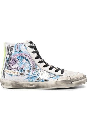 Golden Goose Graphic-print distressed-effect sneakers