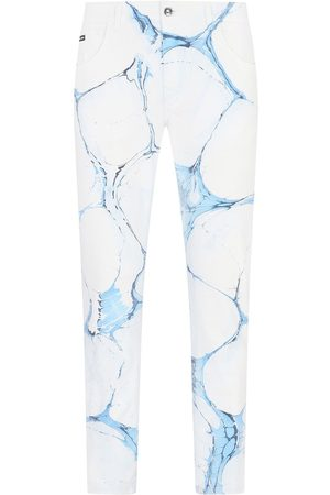 Dolce & Gabbana Cracked-print jeans