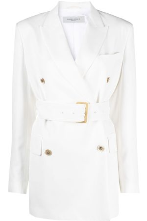 Golden Goose Double-breasted belted blazer