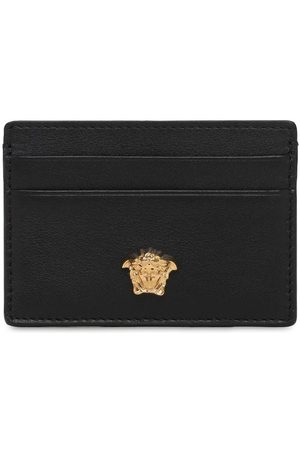 VERSACE Logo Leather Card Holder