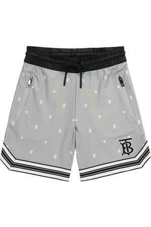 Burberry Boys Shorts - Logo technical-jersey shorts