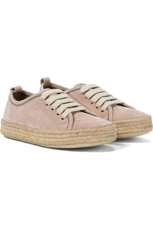 Brunello Cucinelli Lace-up suede espadrilles