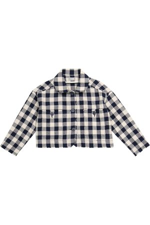Il gufo Checked cotton-blend jacket