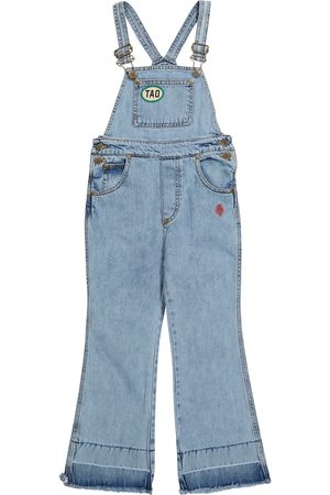 The Animals Observatory Girls Dungarees - Antelope denim dungarees