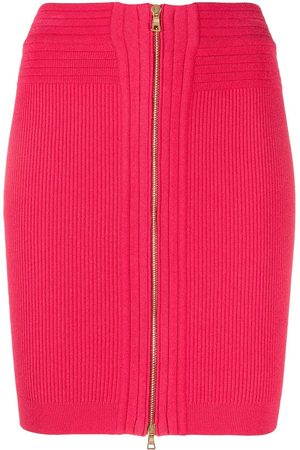 Balmain High-waisted knitted miniskirt