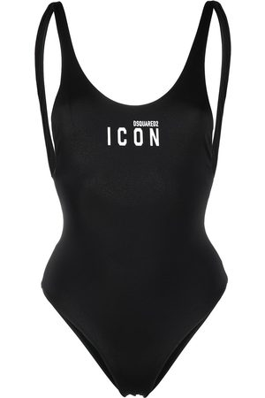 Dsquared2 Women Swimsuits - Logo-print one-piece swimsuit