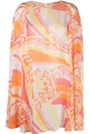 Emilio Pucci Abstract-print silk beach cover-up