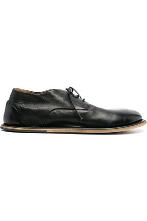 MARSÈLL Flat-rounded lace-uo leather shoes