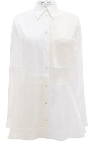 J.W.Anderson Patchwork peplum shirt