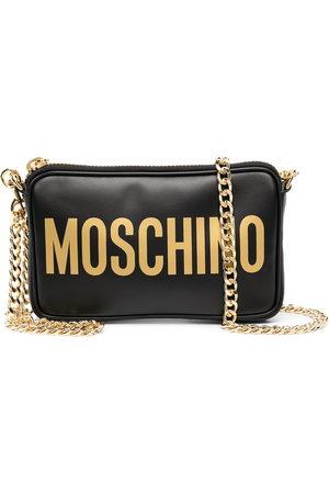 Moschino Logo-print zipped shoulder bag