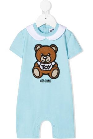Moschino Logo teddy print romper