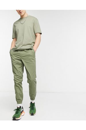 Jack & Jones Intelligence cuffed trouser in khaki