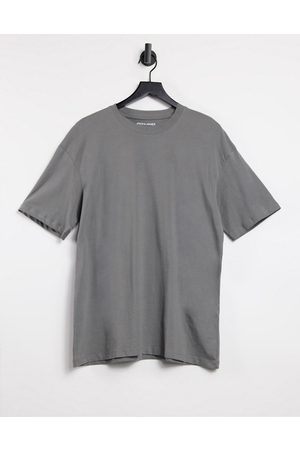 Jack & Jones Core boxy t-shirt in dark grey