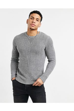 Only & Sons Textured crew neck jumper in