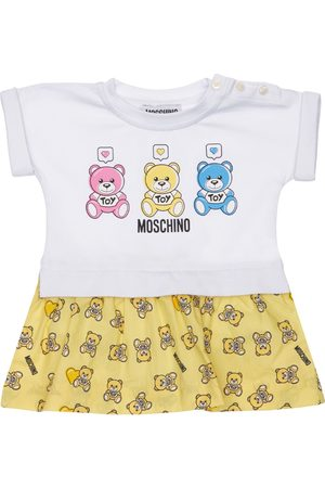 MOSCHINO Girls Skirts - Cotton Jersey Bodysuit W/ Attached Skirt
