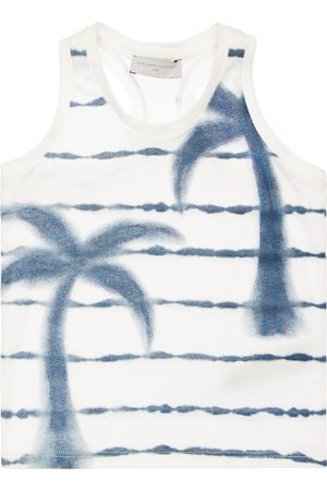 Stella McCartney Striped Print Organic Cotton Tank Top