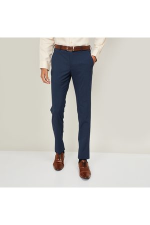 Louis Philippe Men Formal Trousers - Men Solid Super Slim Fit Formal Trousers
