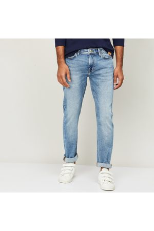 Celio Men Stonewashed Slim Tapered Jeans