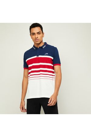 Proline Men Striped Regular Fit Polo T-shirt